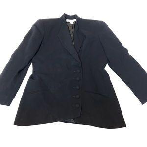 Vintage Christian Dior Navy Asymmetrical Blazer